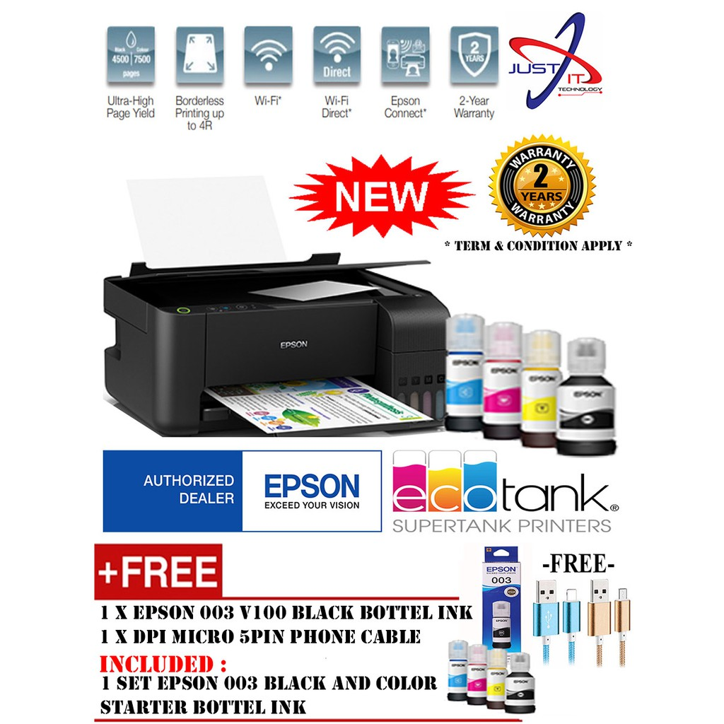 EPSON L3150 AIO INK TANK PRINT SCAN COPY WIFI PRINTER