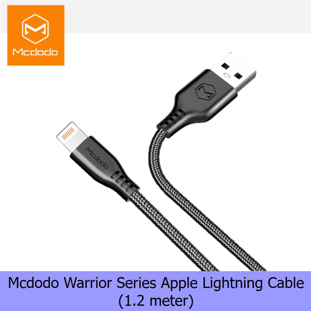 Iphonemcdodo Ca390 Smart Ic Autodisconnect Apple Lightning Cable Mcdodo Knight Series Auto Disconnect Charger Iphone Shopee Malaysia