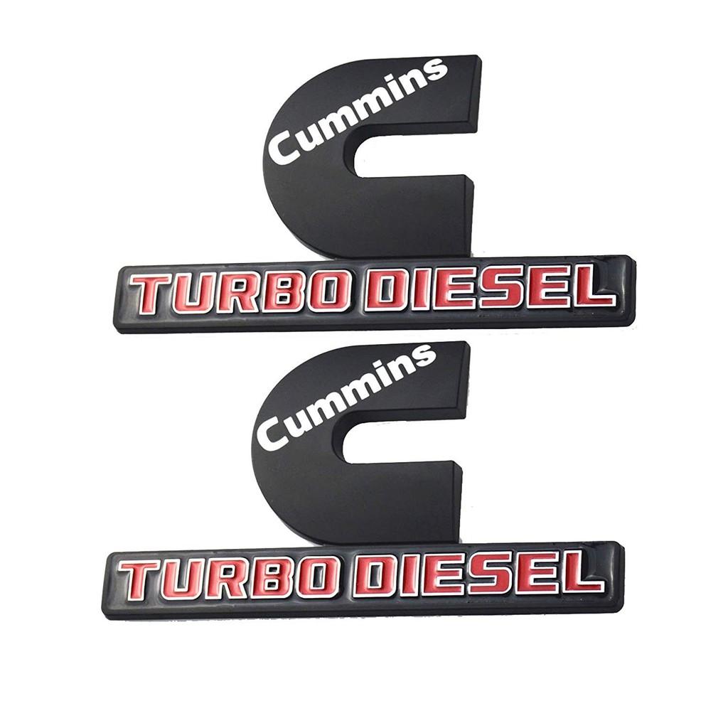 2pcs Cummins Turbo Diesel Emblems 3d Logo For Dodge Ram 2500 3500 Mopar Shopee Malaysia