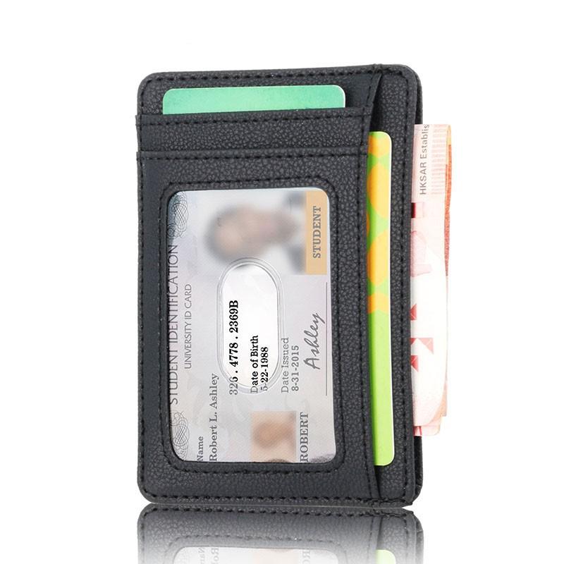 67bdfe802d85 Rfid Vintage Men Wallet Mini Credit Card Holder Business Male Wallets Purse