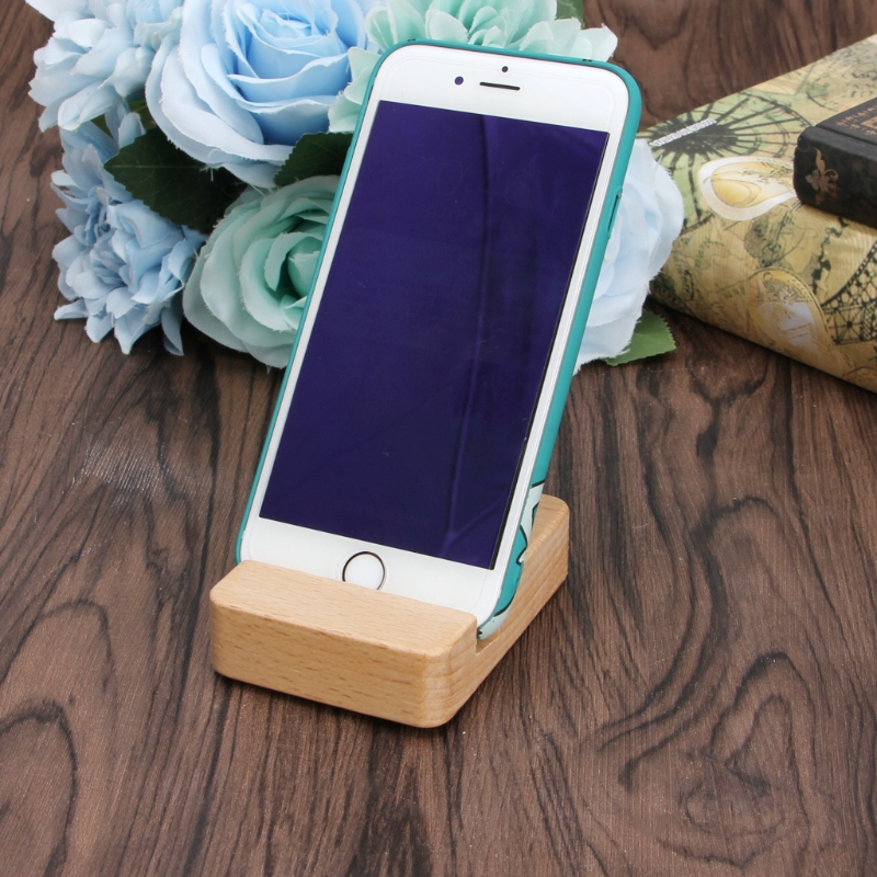 Wood Smart Phone and Stylus Cradle
