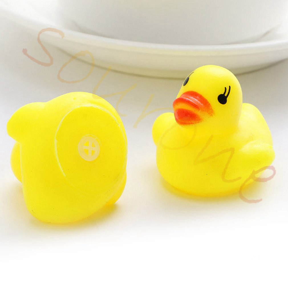 Baby Mini Yellow Bathtime Rubber Duck Ducks Bath Toy Squeaky Water Play Kids Gift Products Are Sold Without Limitations Bathing Accessories