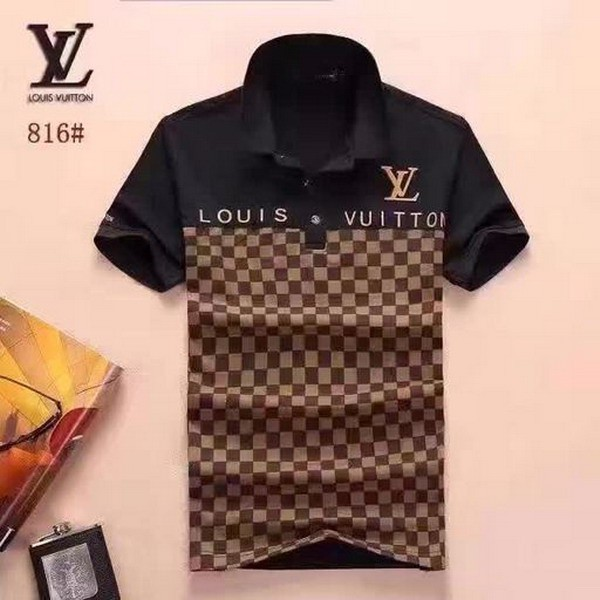 2e9d0462 Louis Vuitton LV short-sleeved T-shirt POLO shirt casual men's LV new polo  shirt | Shopee Malaysia