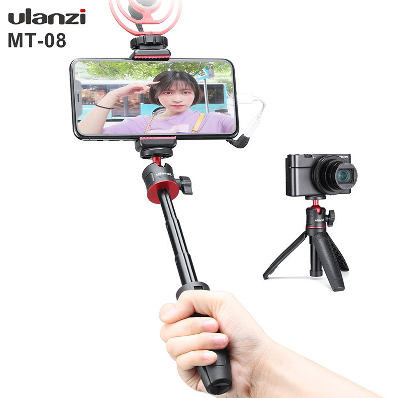 Ulanzi Extend Pole Mini Tripod Monopod Mount Handle Grip W Cold Shoe for  Gopro 8/7/6/5 DSLR Camera DJI OSMO Pocket | Shopee Malaysia
