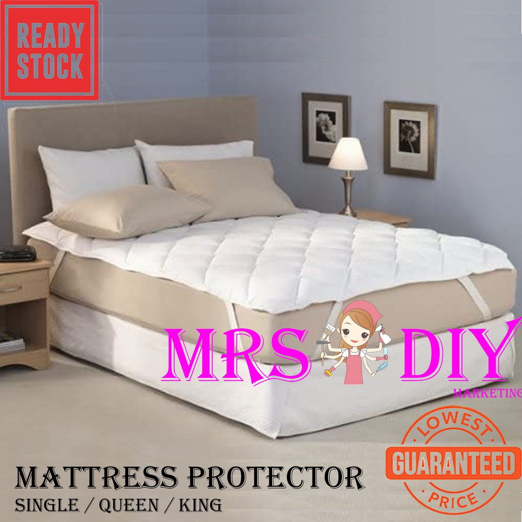 Mrs Diy Mattress Protector All Size Single Queen King Size Os Pre 7 Shopee Malaysia