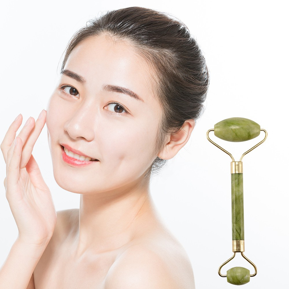 Green Nature Healthy Body Head Neck Foot Jade Roller Facial