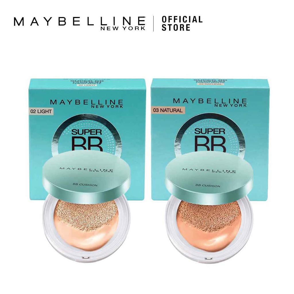Maybelline Super Bb Cushion Ultra Cover Spf50 Pa Shopee Malaysia Sand Beige