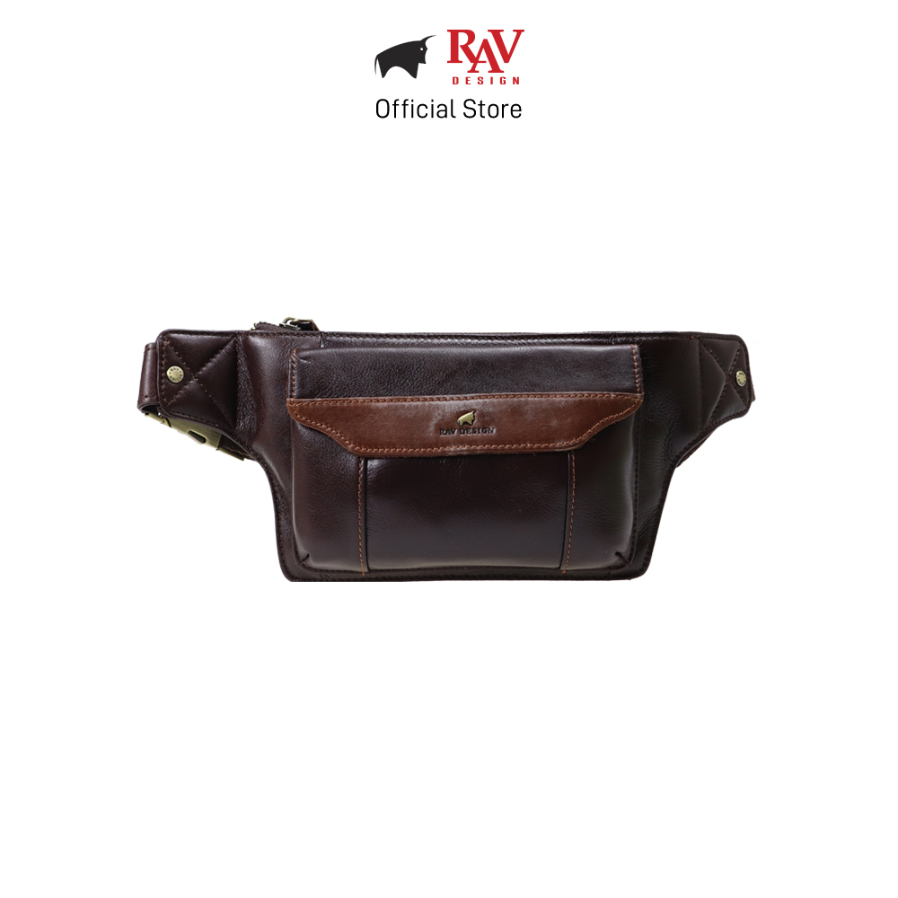 RAV DESIGN Men's Genuine Leather Waist Bag |RVY461 Series