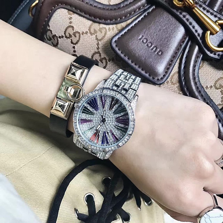 Women Watches Mashali Full Diamond Roman Digital Diamonds Popular Ladies Watch