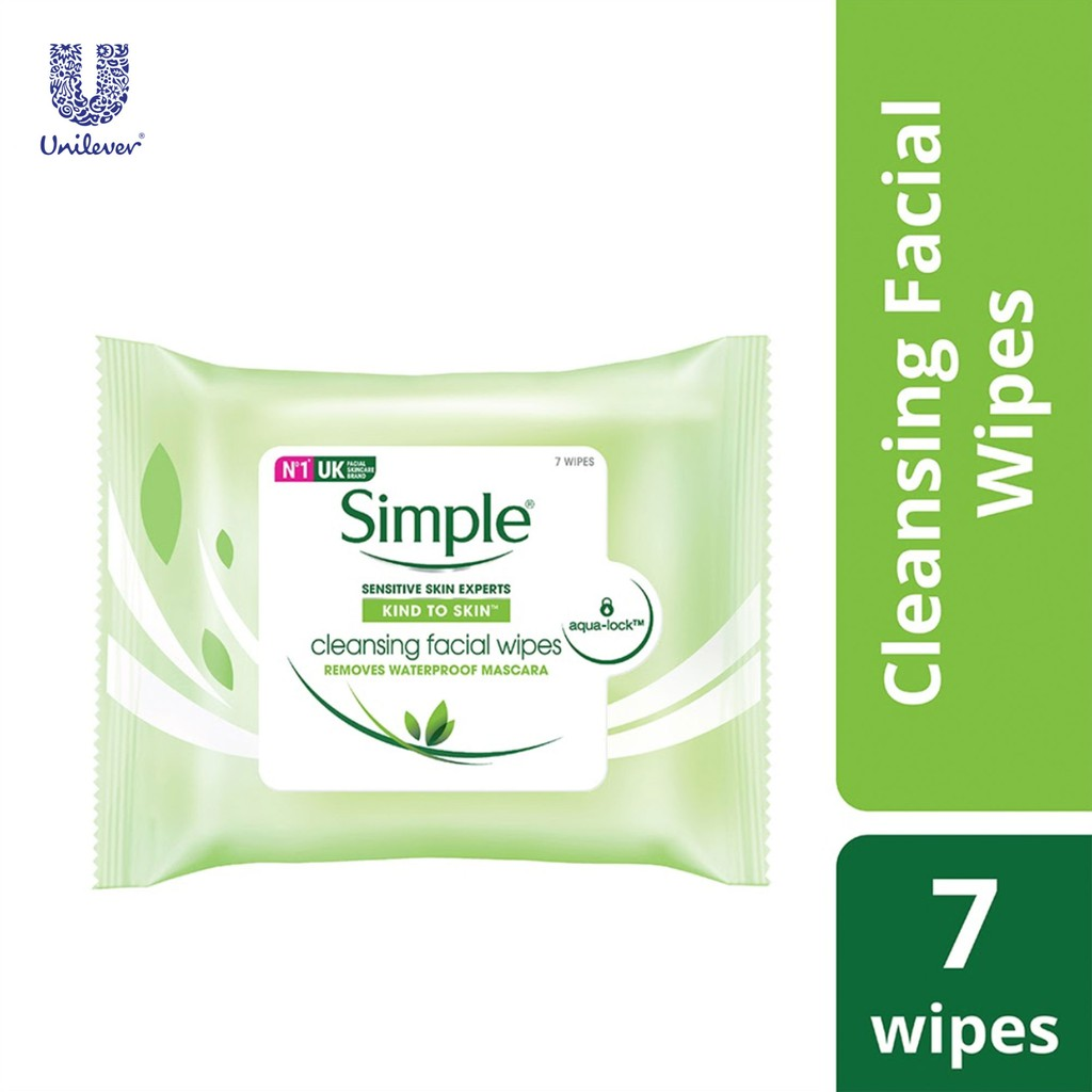 Simple Cleansing Facial Wipes 7's Limited