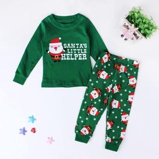 Boys Christmas Pajamas.2pcs Set Baby Girls Boys Christmas Theme Pajamas Kids Sleepwear Cotton Clothes