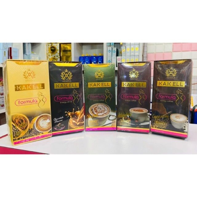 KAK ELL ENERGY COFFEE HAZELNUT ADVANCE FORMULA 10SACHET 100% ORIGINAL HQ+FREEGIFT