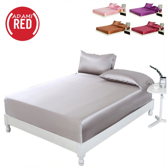 ADAMI 3-IN-1 LUXURY BEDDING SETS SOLID BED LINEN SET BED SHEET- 1706