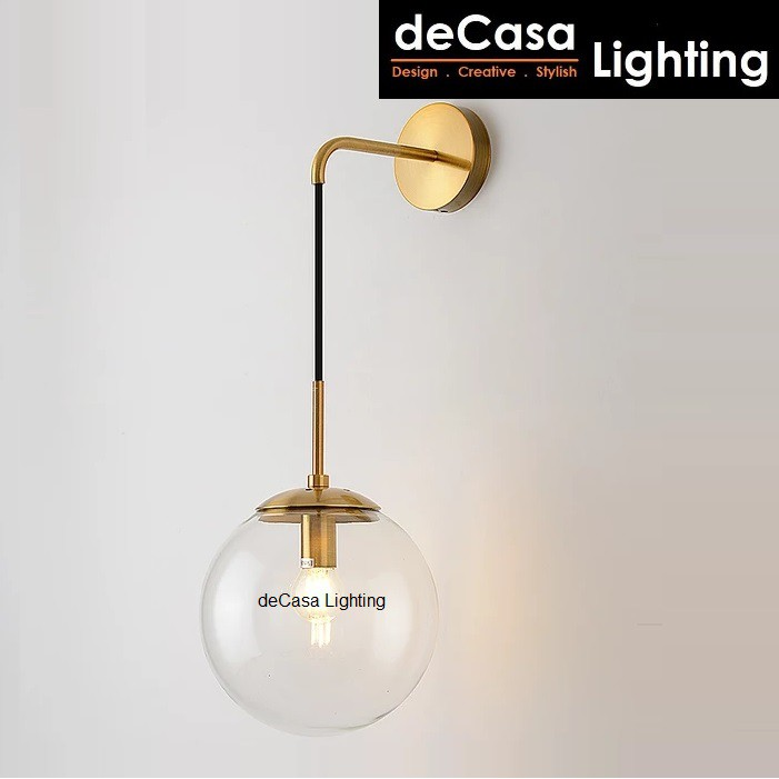 DECASA LIGHTING Contemporary Glass Indoor Decorative Wall Lamps Modern Style Bedroom Beside Lighting Wall Light (0510
