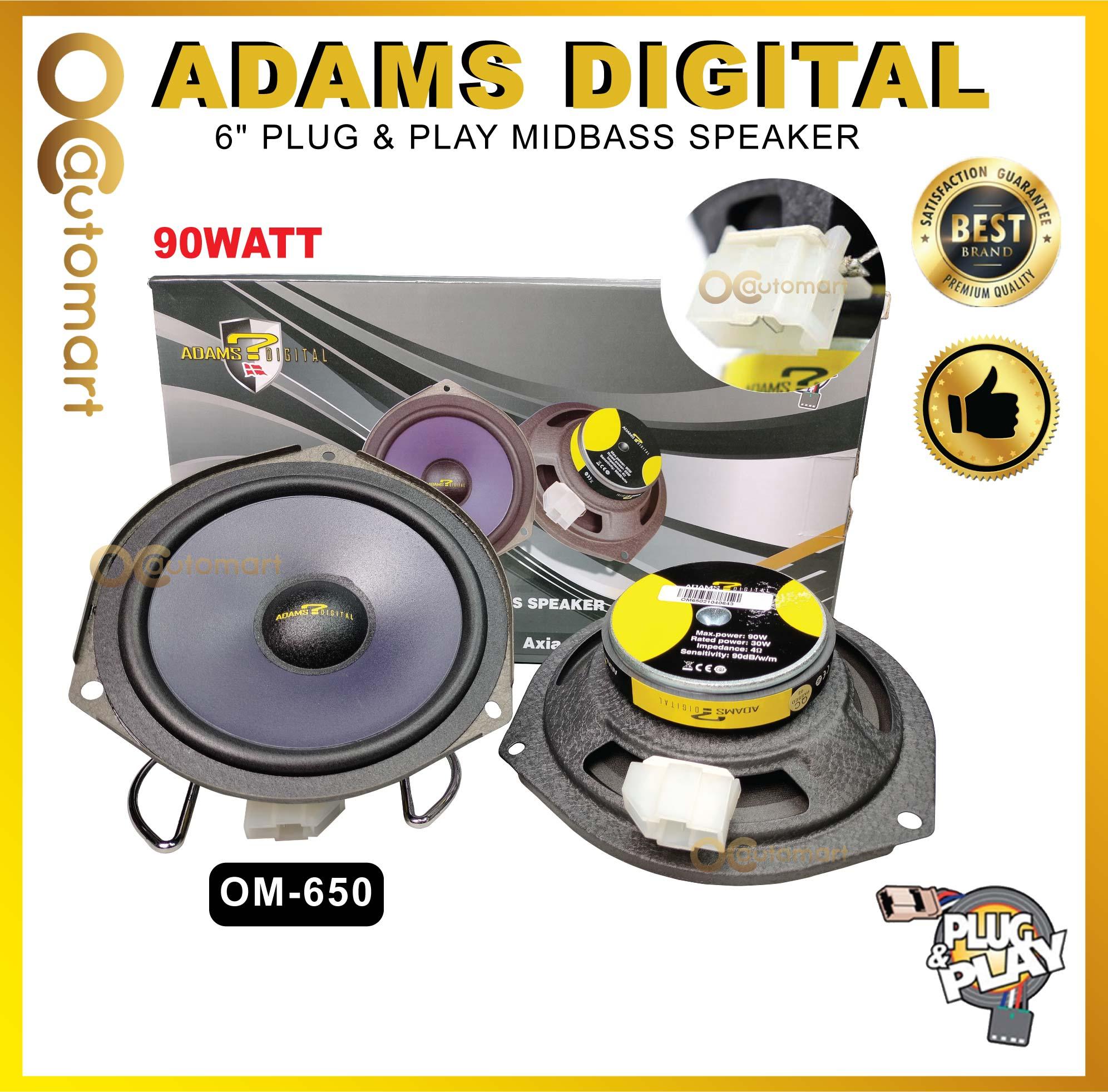 Adams Digital Perodua OEM Plug & Play Car Speaker Myvi New/ Axia/ VIva/ Alza/ Bezza/ Aruz/ Ativa