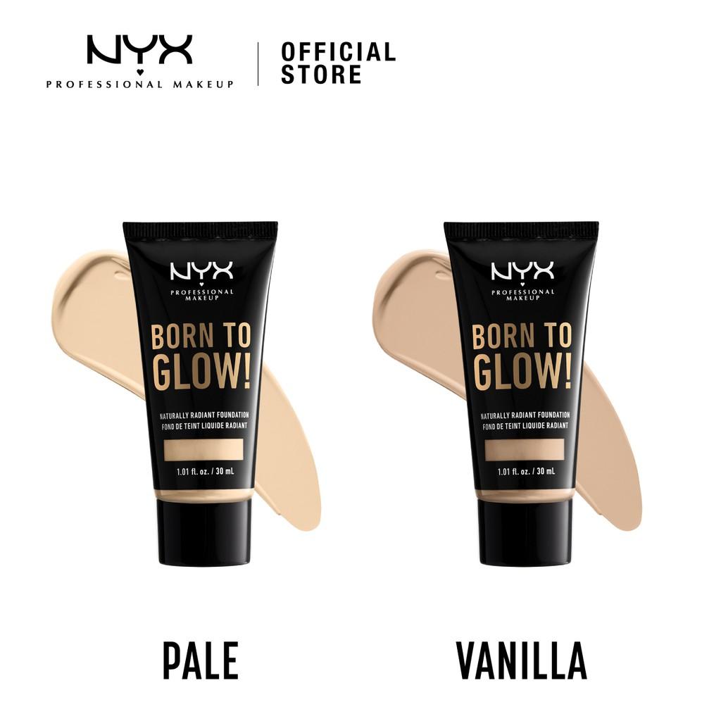 Nyx Professional Makeup Born To Glow Naturally Radiant Foundation Shopee Malaysia