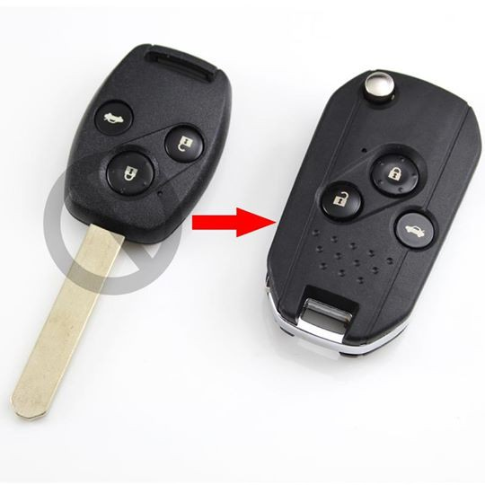 New Replacement Flip Key Shell Case FOR 2003- 2010 HONDA Accord