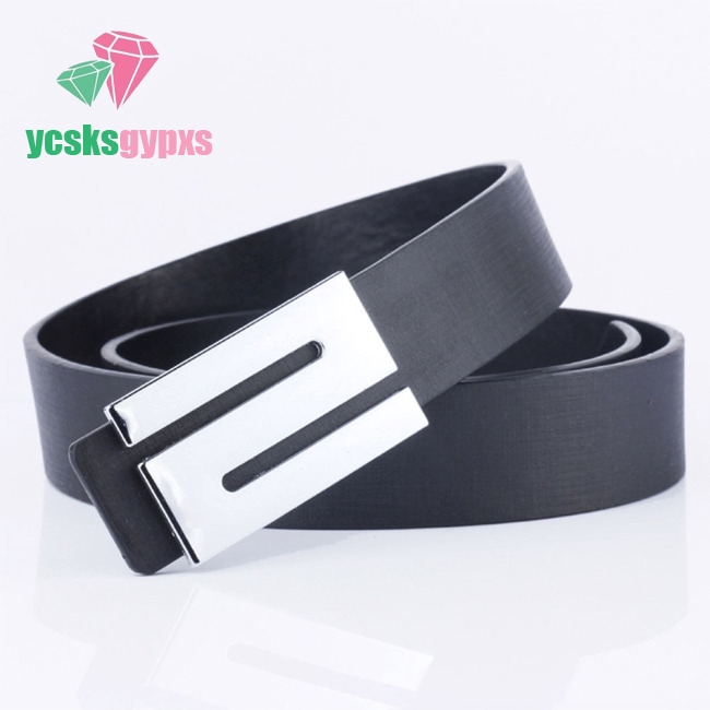 Men Fashion Casual All-match Leather Waist Belt