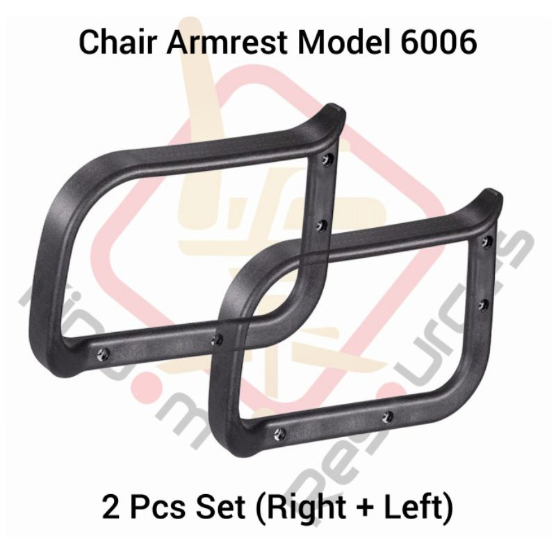 Office Chair Arm Rest Model 6006 Set Left+Right (High Quality) (Office Chair Wheel / Office Chair Sport Wheels / Office)