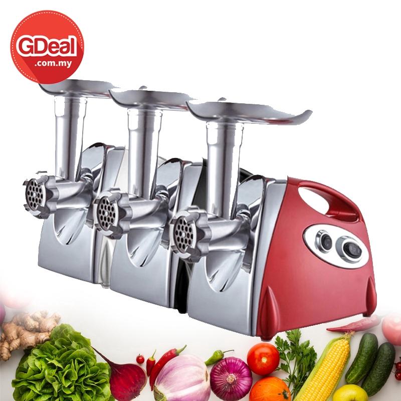 GDeal Multifunction 800 Electric Stainless Steel Meat Grinder Meat Mincer Meat Fruit Vegetable Blender Pengisarڤڠيسر