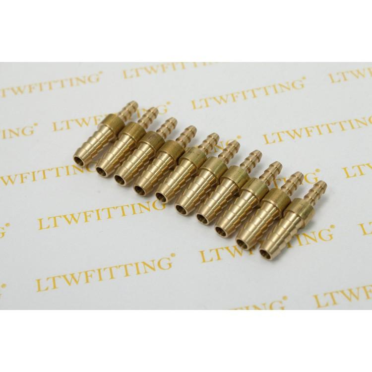"10 LTWFITTING Brass Barb Splicer Mender 1//4/"" Hose ID Fitting Hose Joiner"
