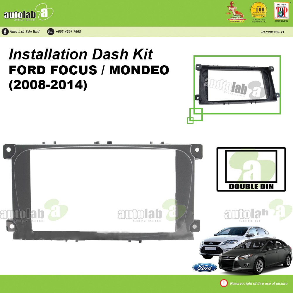 Player Casing Double Din Ford Focus/ Mondeo (2008-2014)