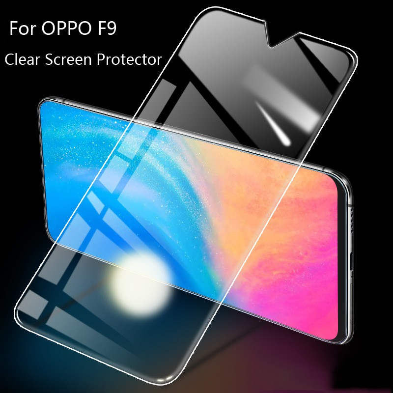 Clear Tempered Glass For OPPO F9 9H 2 5D Screen Protector