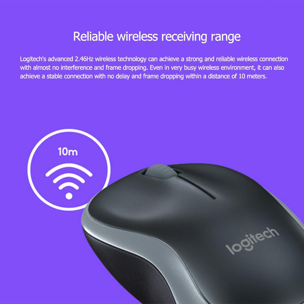 [IN STOCK/COD]Logitech M185 2 4G Wireless Mouse Optical Mouse w/ USB Nano  Receiver for PC