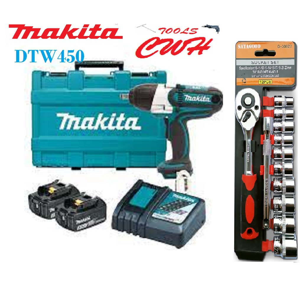 """440NM MAKITA DTW450RME 1/2"""" 18V CORDLESS IMPACT WRENCH DTW450Z DTW450RFE"""