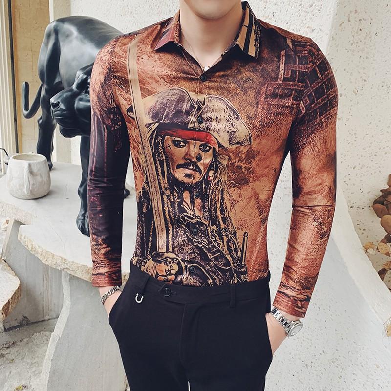 X-Future Mens Button Down Slim Fit Stand Collar Long Sleeve Denim Shirt