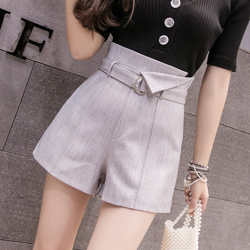 a7ea4c16af Women's summer 2019 new loose chic high waist suit shorts | Shopee ...