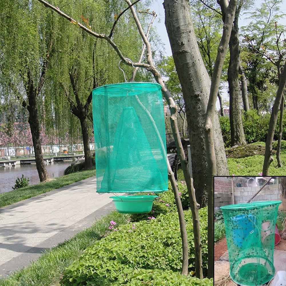 1PCS Pest Control Reusable Hanging Fly Catcher Flytrap Cage