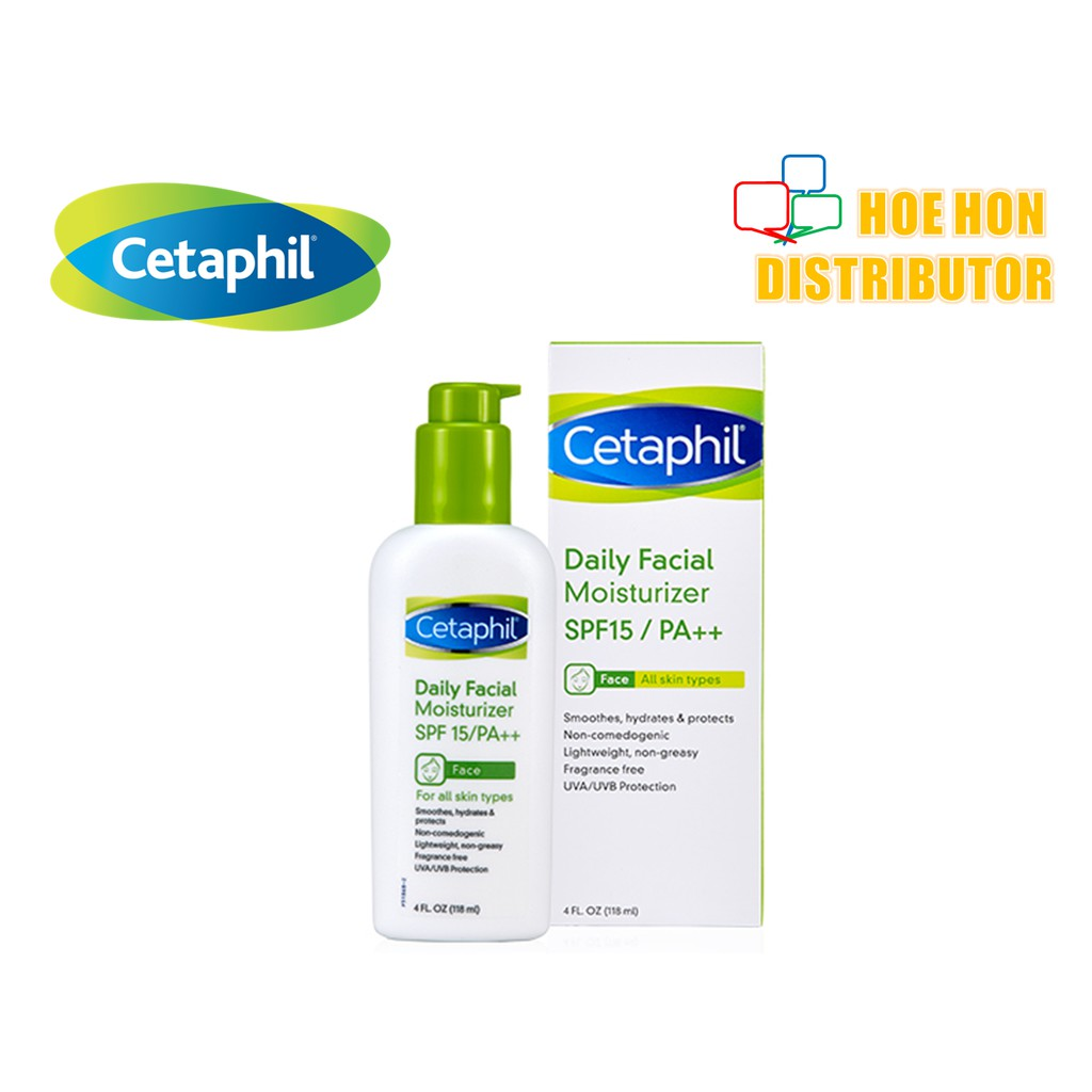Cetaphil Daily Facial Moisturizer Spf 15 118ml Shopee Malaysia