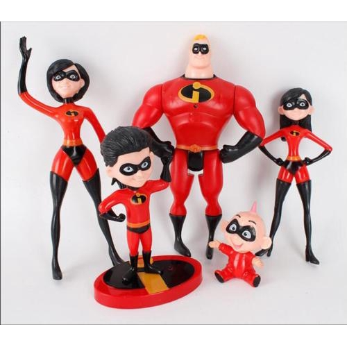 5Pcs//Set The Incredibles 2 Family Junior Supers Action Figures Kids Toys Gift