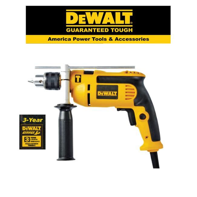 DEWALT DWD024K-13MM PERCUSSION DRILL 650W + SIDE HANDLE
