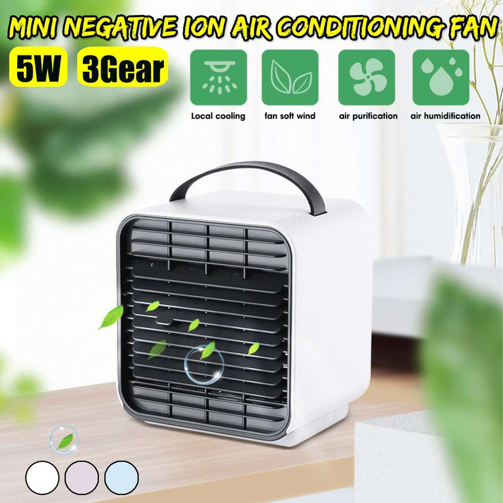 Home Appliances Usb Rechargeable Battery 3 Gear Air Conditioner Fan Air Cooler Fans Air Purifier With Light The Quick Cooler Negative Ion