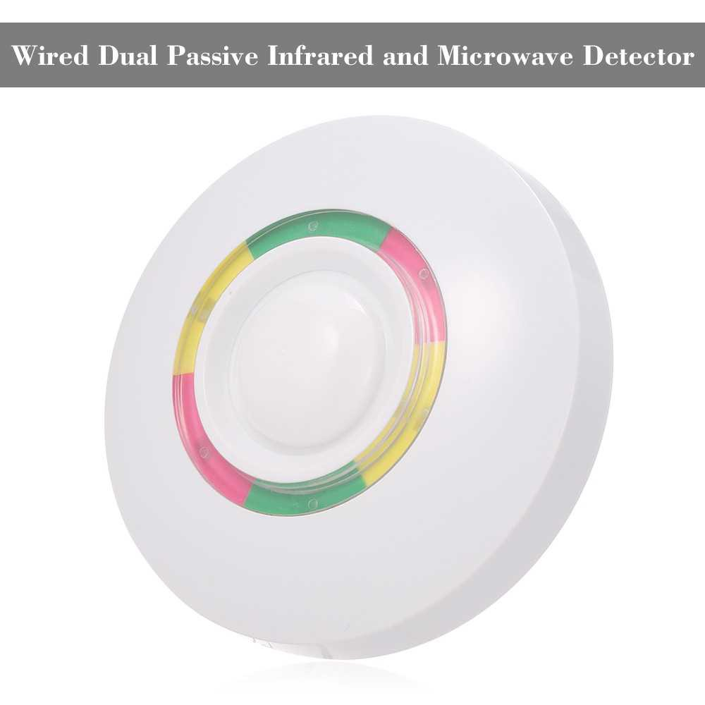 Wired Dual Passive Infrared and Microwave Detector Pet-Immunity PIR Motion Sensor Wall Mounted Wired Alarm NC Output Fo