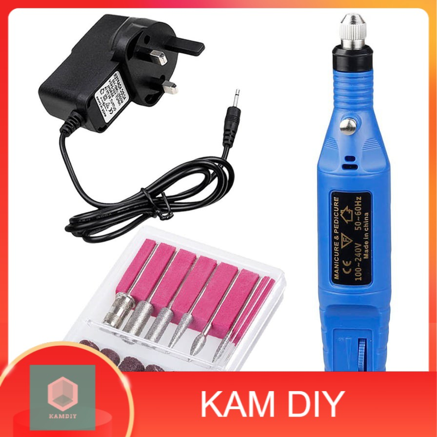 Nail Gel Polish Removing Drill Electric Grinder Tool Grinding Finger Toe Care Kit Manicure Pedicure Machine set