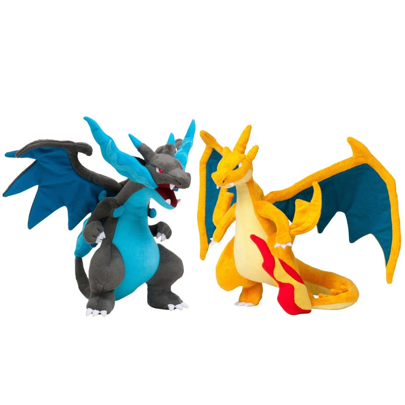 Plush Toys,Charizard X Plush Toys Doll Mega Charizard X Plush Soft Stuffed Animals Toys for Kids Children Gifts with Tag 25Cm