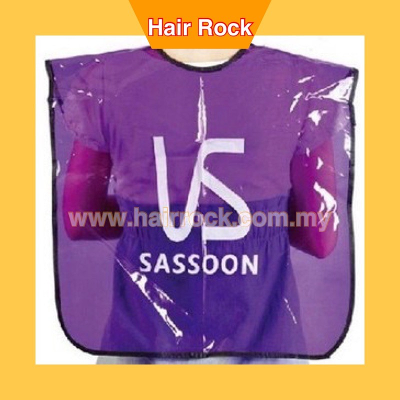 NEK Pro Salon hairdresser barbers cape gown pc apron Waterproof for colouring -Purples