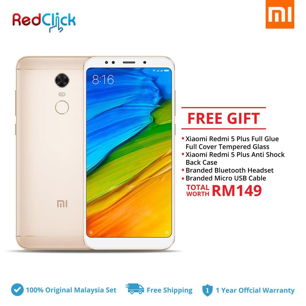 Xiaomi Redmi 5 Plus (4GB/64GB) + 4 Free Gift Worth RM149