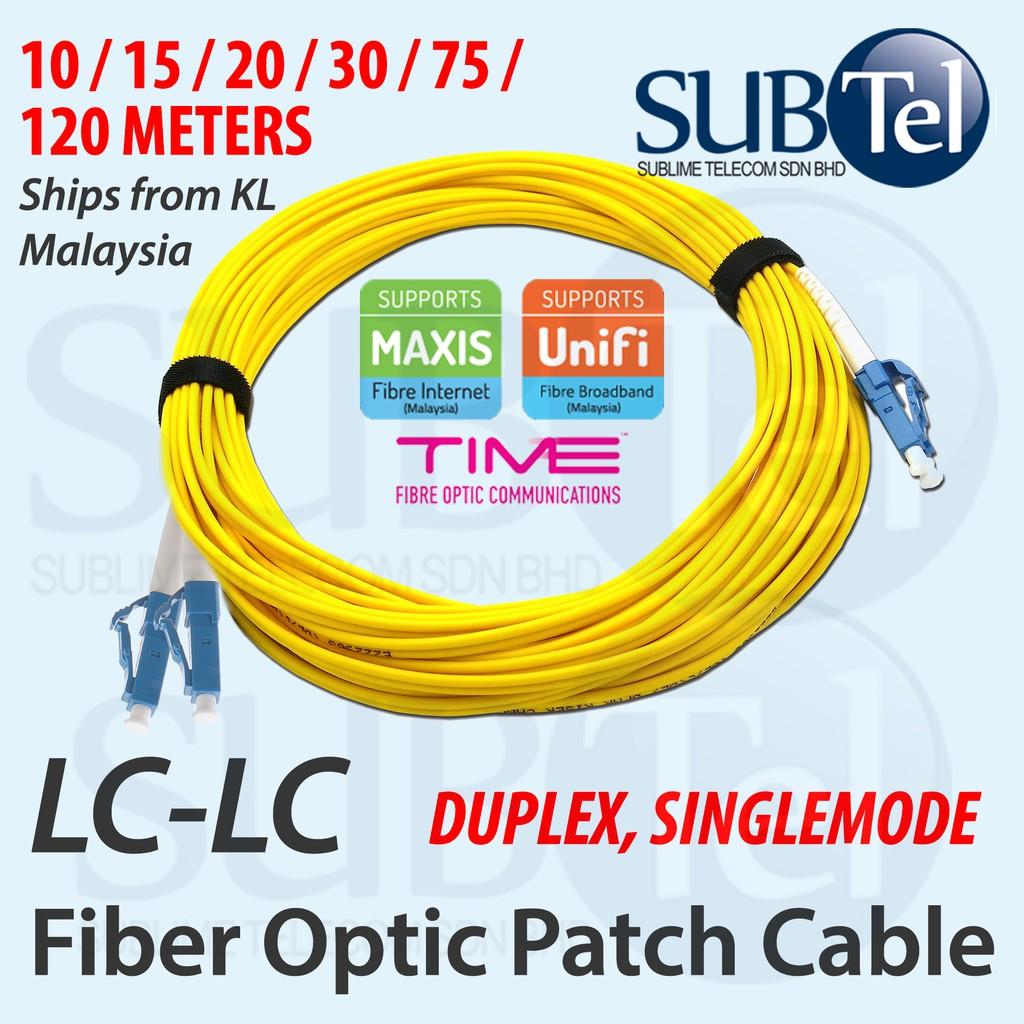 Optical Fiber Cables 15M LC to LC 9/125 Simplex SingleMode SM ...