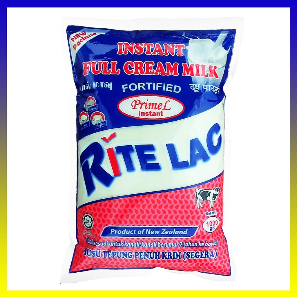 RITE LAC  Instant Full Cream Milk Powder - Susu Tepung SEGERA  penuh Krim (Instant) (1000gm)