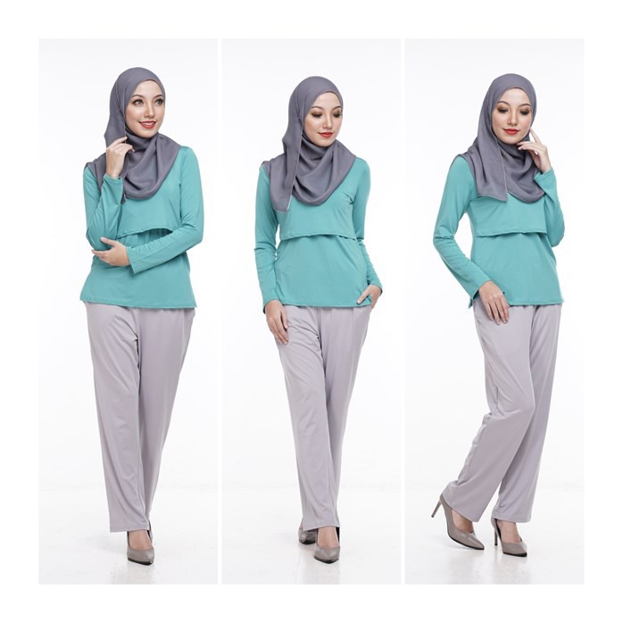 Seluar Kasual Kelabu Ibu Mengandung by Qissara Maternity Friendly Casual Ligth Grey Pants