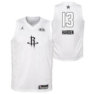 online store 24306 148bd Nike White Num 13 NBA All-Star 2018 Houston Rockets James ...