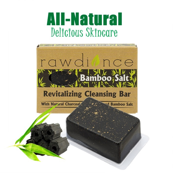 Rawdiance Revitalizing Cleansing Bar Bamboo Salt Body Soap Facial Soap SkinCare