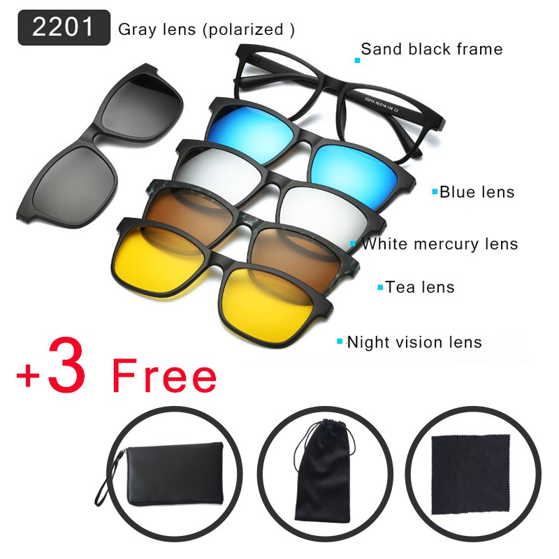 076b77b2c0 Cyxus Clip On Day Night Using Polarized Sunglasses for  Driving Running Cycling