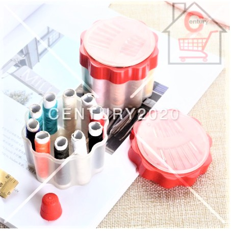 RIMEI Household Sewing Box Set With Needle Scissor Thread Paper Ruler Thimble Mini Sewing Organizer