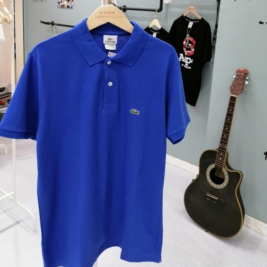 Lacoste Contrast Embroidered Logo Polo Tee Shirt Men