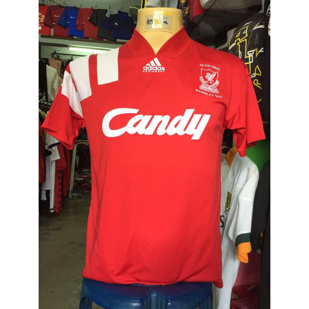 premium selection b4bf1 39a89 Vintage Liverpool Shirt Candy | Top Mode Depot